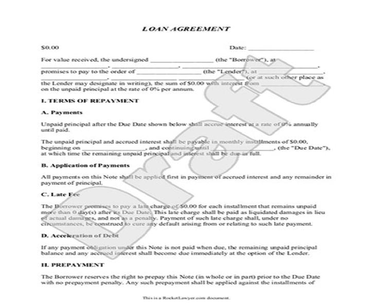 personal loan agreement template microsoft word - Paso.evolist.co